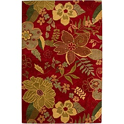 Hand-tufted Hesiod Red Rug (8' x 10')