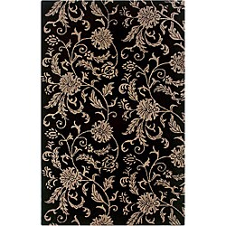 Modern Hand-Tufted Hesiod Black Rug (9' x 12')