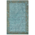 Hand-tufted Hesiod Blue Rug (9' x 12')