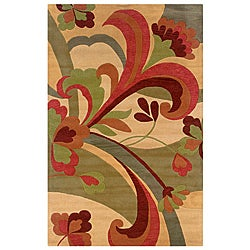 Hand-tufted Hesiod Light Gold Rug (9' x 12')