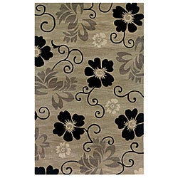 Hand-tufted Hesiod Pewter Rug (9' x 12')