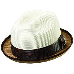 Santana by Carlos Santana Men's Two-tone Banded Fedora Hat