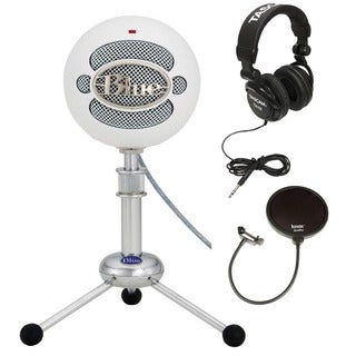 Blue Microphones Snowball Plug & Play White Microphone Bundle