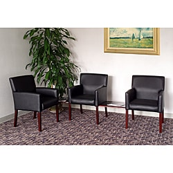 Boss Five-piece Reception Group Set with Black Vinyl Upholstery