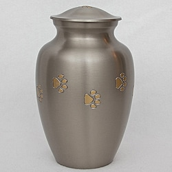 Star Legacy's Golden Paw Print Large Pet Urn for Pets Up to 100 Pounds