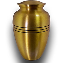 Star Legacy Medium Handcrafted Brushed-brass Pet Urn with Velvet Case