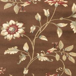 Safavieh Lyndhurst Zen Gardens Brown Rug (5'3 x 7'6)