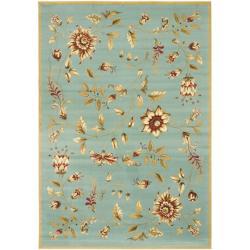 Safavieh Lyndhurst Zen Gardens Blue Rug (9' x 12')