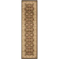 Lyndhurst Traditions Brown/ Ivory Rug (2'3 x 12')