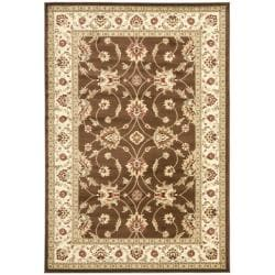 Lyndhurst Traditions Brown/ Ivory Rug (5'3 x 7'6)