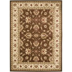 Safavieh Lyndhurst Traditions Brown/ Ivory Rug (6'7 x 9'6)