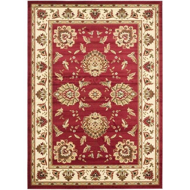 Safavieh Lyndhurst Traditions Red/ Ivory Rug (9' x 12')