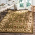 Lyndhurst Traditions Green/ Ivory Rug (6'7 x 9'6)