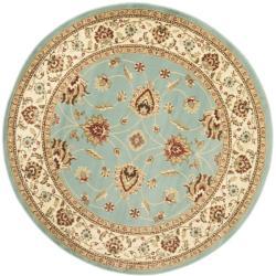 Safavieh Lyndhurst Traditions Blue/ Ivory Rug (5'3 Round)