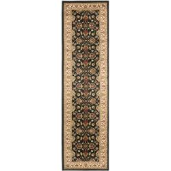Lyndhurst Traditions Black/ Ivory Rug (2'3 x 16')