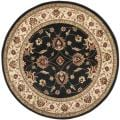 Lyndhurst Traditions Black/ Ivory Rug (5'3 Round)