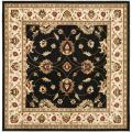 Lyndhurst Traditions Black/ Ivory Rug (6'7 Square)