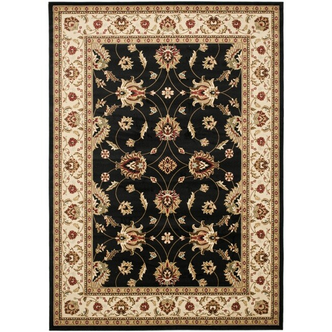 Safavieh Lyndhurst Traditions Black/ Ivory Rug (9' x 12')
