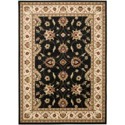Lyndhurst Traditions Black/ Ivory Rug (9' x 12')