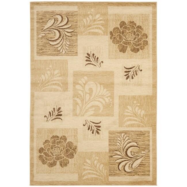 Safavieh Lyndhurst Floral Panels Ivory Rug (5'3 x 7'6)