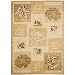 Safavieh Lyndhurst Floral Panels Ivory Rug (6'7 x 9'6)