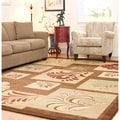 Lyndhurst Floral Panels Brown Rug (9' x 12')