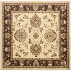 Safavieh Lyndhurst Tabriz Ivory/ Brown Rug (6'7 Square)