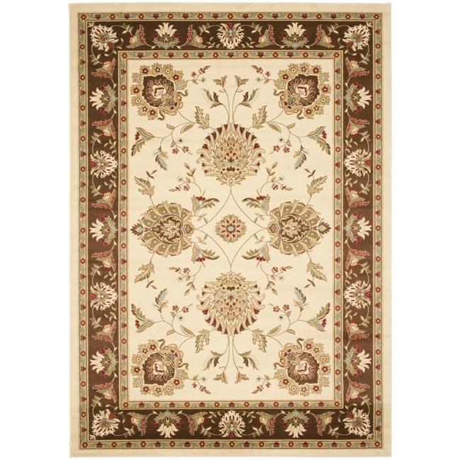 Safavieh Lyndhurst Tabriz Ivory/ Brown Rug (9' x 12')