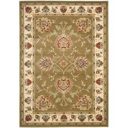 Safavieh Lyndhurst Tabriz Green/ Ivory Rug (5'3 x 7'6)