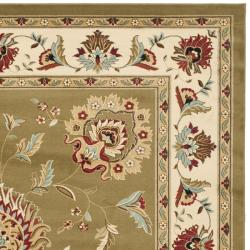 Lyndhurst Tabriz Green/ Ivory Rug (8' x 11')