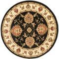 Safavieh Lyndhurst Tabriz Black/ Ivory Rug (5'3 Round)