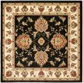 Safavieh Lyndhurst Tabriz Black/ Ivory Rug (6'7 Square)
