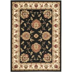 Safavieh Lyndhurst Tabriz Black/ Ivory Rug (6'7 x 9'6)