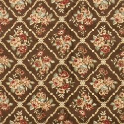 Lyndhurst Floral Trellis Brown Rug (9' x 12')