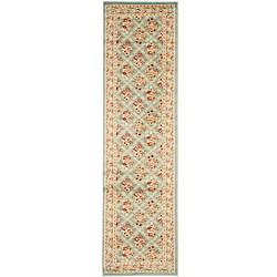 Lyndhurst Floral Trellis Blue Rug (2'3 x 12')