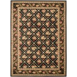 Safavieh Lyndhurst Floral Trellis Black Rug (9' x 12')