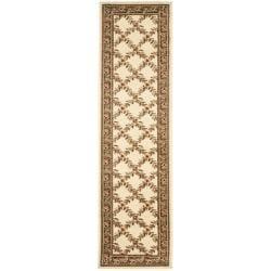 Lyndhurst Trellis Gardens Ivory/ Brown Rug (2'3 x 12')