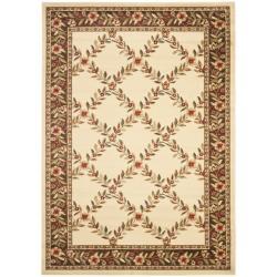 Safavieh Lyndhurst Trellis Gardens Ivory/ Brown Rug (5'3 x 7'6)