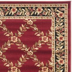 Safavieh Lyndhurst Trellis Gardens Red/ Black Rug (4' x 6')