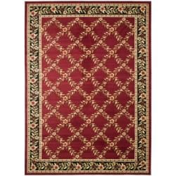 Safavieh Lyndhurst Trellis Gardens Red/ Black Rug (6'7 x 9'6)