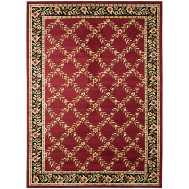 Safavieh Lyndhurst Trellis Gardens Red/ Black Rug (9' x 12')