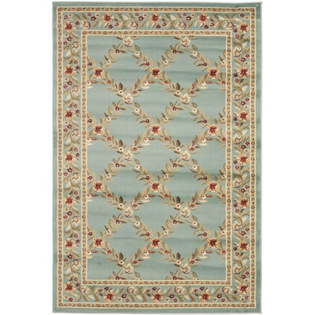 Safavieh Lyndhurst Trellis Gardens Blue Rug (4' x 6')