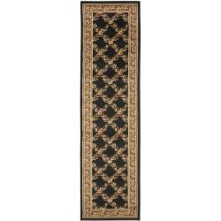 Lyndhurst Trellis Gardens Black/ Brown Rug (2'3 x 12')