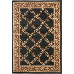 Safavieh Lyndhurst Trellis Gardens Black/ Brown Rug (5'3 x 7'6)