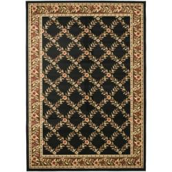 Lyndhurst Trellis Gardens Black/ Brown Rug (9' x 12')