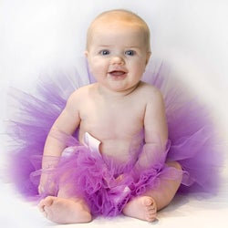 Infant Purple Tulle Tutu