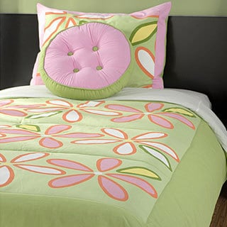 RizKidz 'Daisy Green' 4-piece Full-size Quilt Set