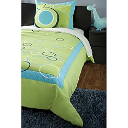 RizKidz 'Bubbles' 4-piece Full-size Quilt Set