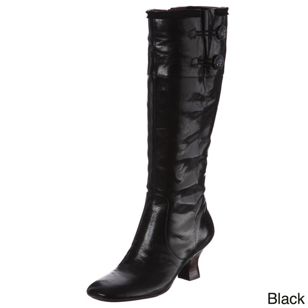 Naya Women's 'Dalia' Knee-high Button Detail Boots