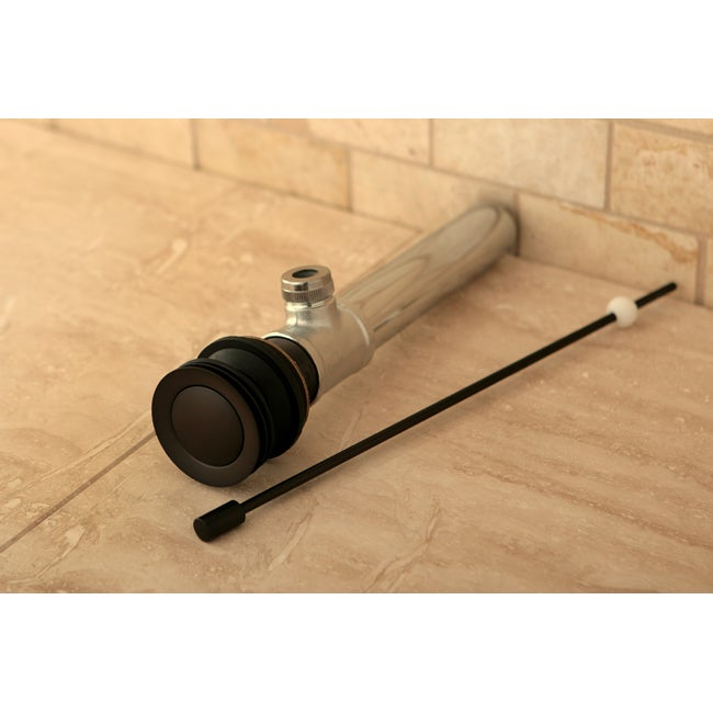 Oil Rubbed Bronze Vessel Pop-up Sink Drain with Overflow